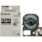 (業務用3セット) キングジム テプラPROテープ/ラベルライター用テープ 【幅:18mm】 ST18S 透明に白文字