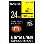 (業務用20セット) カシオ CASIO マグネットテープ XR-24JYW 黄に黒文字24mm