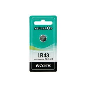 (業務用20セット)SONYソニーアルカリボタン電池LR43-ECO