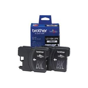 (業務用6セット)brotherブラザー工業インクカートリッジ純正【LC11BK-2PK】2本入りブラック(黒)×6セット