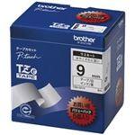 (業務用30セット) brother ブラザー工業 文字テープ/ラベルプリンター用テープ 【幅:9mm】 TZe-325 黒に白文字