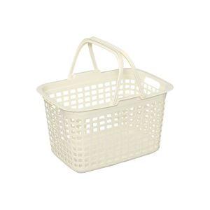 (まとめ買い)アイリスオーヤマ ランドリーバスケット LB-M(アイボリー) 【×50セット】