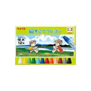 (業務用60セット) ぺんてる ずこうクレヨン 12色 PTCG1-12