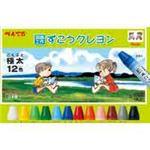 【送料無料】(業務用60セット) ぺんてる ずこうクレヨン 12色 PTCG1-12の画像