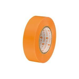 (業務用30セット)ヤマト ビニールテープ/粘着テープ 【19mm×10m/橙】 NO200-19 - 拡大画像