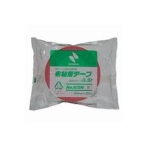 【訳あり・在庫処分】 (業務用10セット)ニチバン カラー布テープ 102N-50 50mm×25m 赤