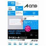 (業務用30セット) エーワン インクジェット用ラベル/宛名シール 【A4/12面 20枚】 28915
