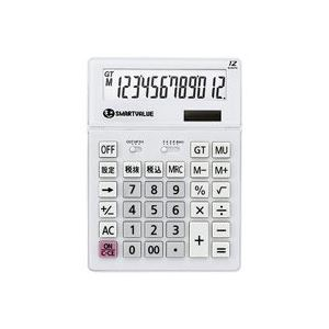 (業務用30セット) ジョインテックス 大型電卓 ホワイト K070J