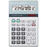 (業務用30セット) シャープ SHARP 環境配慮電卓 ナイスサイズ EL-N412K
