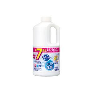 (まとめ買い)花王 キュキュット クリア除菌 詰替用 1380ml 【×5セット】