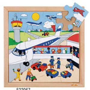 木製ジグソー(空港)