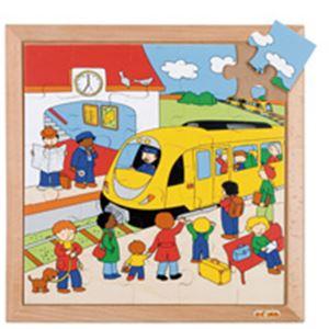 木製ジグソー(駅)