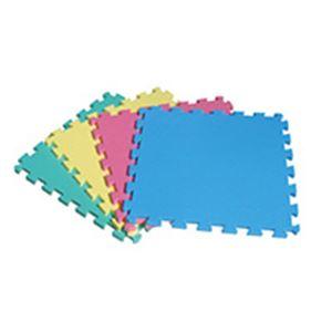 防炎ソフトジョイントフロアーマット45 ブルー - 拡大画像