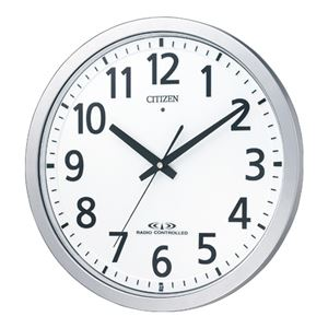 リズム時計シチズン電波掛時計8MY462-019