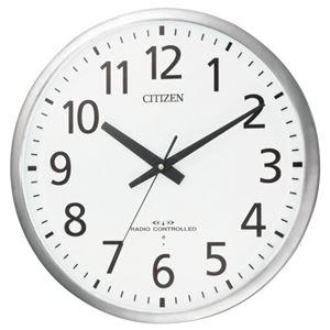 リズム時計シチズン電波掛時計8MY463-019