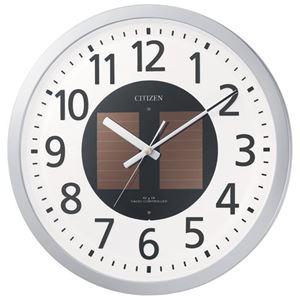 リズム時計シチズン電波掛時計4MY815-019