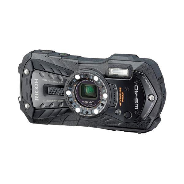 リコー デジタルカメラ WG-40BK ブラックf00