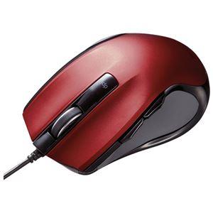 サンワサプライ BlueLEDマウス MA-BL11R レッド h01