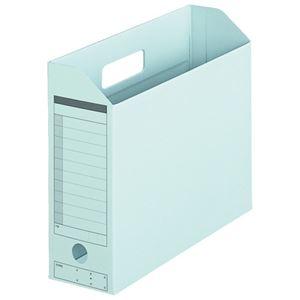プラス ボックスファイル FL-051BF A4E 青 10個