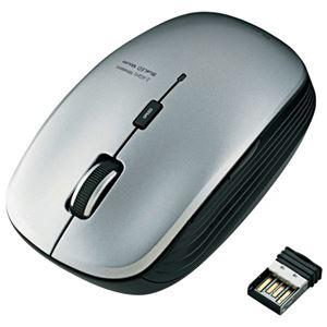 エレコム ワイヤレスLEDマウス M-BL21DBSV 灰 h01