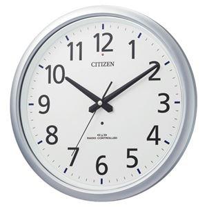 リズム時計シチズン電波掛時計8MY493-019