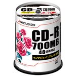 三菱化学 データ用CD-R 100枚入り SR80PP100