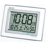電波デジタル温湿度付目覚時計 086-05B