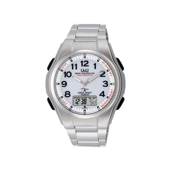 Q&Qソーラー電源電波腕時計 157-06Bf00
