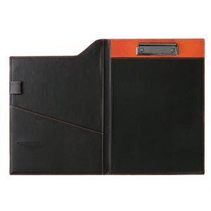 クリップファイル A4 オレンジ 299-14B