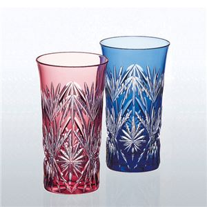 江戸切子 ペア一口ビールグラス 076-02Bの商品画像