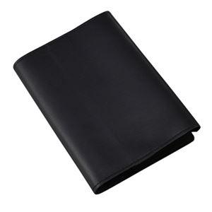 柔らかい山羊革のブックカバー黒 297-12B - 拡大画像