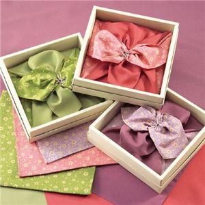 彩美花飾りふろしき・小ふろしき緑 422-08A