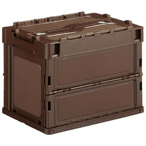 E-CON オリタタミコンテナ ブラウン 560300-00 20L 蓋付