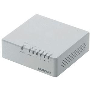 (まとめ)エレコム スイッチングハブ 5ポート EHC-F05PA-JW【×10セット】