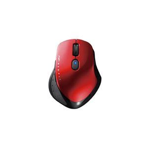 (まとめ)BUFFALO ワイヤレスBlueLEDマウス BSMBW510MRD レッド【×5セット】