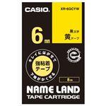 (まとめ)カシオ計算機 ラベルテープ XR-6GCYW 黒文字黄テープ6mm【×30セット】