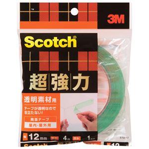 (まとめ)スリーエムジャパン超強力両面テープ透明素材用STD-1212mm×4m【×30セット】