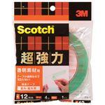 (まとめ)スリーエム ジャパン 超強力両面テープ透明素材用STD-12 12mm×4m【×30セット】