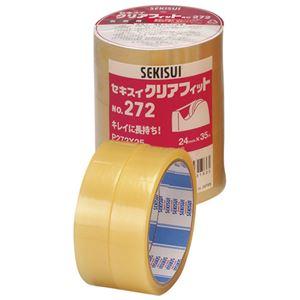 (まとめ)セキスイ クリアフィットNo.272 24mm×35m 5巻【×30セット】