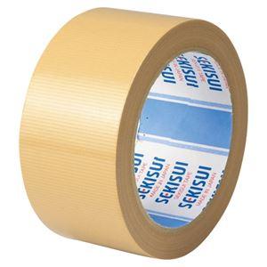 (まとめ)セキスイ 布テープ NO.600A 50mm×25m 茶 N60XA03【×100セット】
