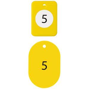 (まとめ)オープン工業 クロークチケット 1〜20 黄BF-150-YE【×10セット】