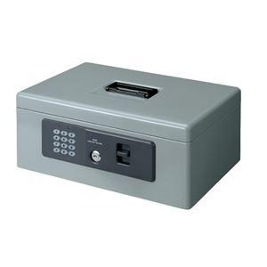 (まとめ)プラス 電子ロック手提金庫 M CB-020HL グレー【×5セット】