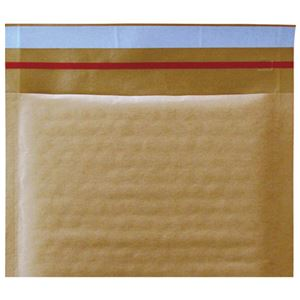 (まとめ)今村紙工 クッション封筒 茶テープ付 DVD/CD用10枚【×50セット】