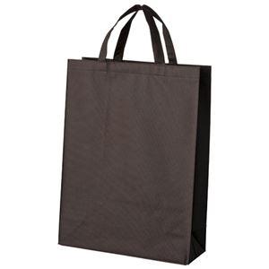 (まとめ)スマートバリュー 不織布手提げバッグ中10枚 ブラウン B451J-BR【×30セット】