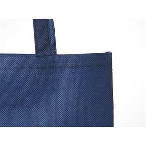(まとめ)スマートバリュー 不織布手提げバッグA4マチ無 ブルー B452J-BL【×30セット】
