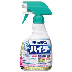 (まとめ)花王 キッチン泡ハイター 本体 400ml【×10セット】