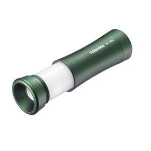 (まとめ)東芝 LEDランタン付ライトKFL-403L モスグリーン【×30セット】