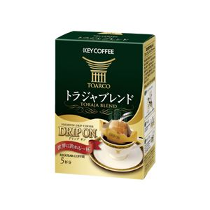 (まとめ)キーコーヒードリップオントラジャブレンド5袋入り【×10セット】