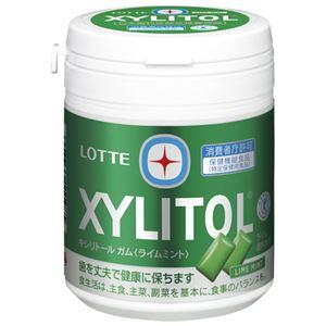(まとめ)ロッテキシリトールガムライムミントボトル143g【×30セット】