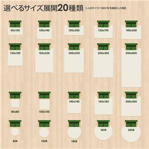 ラグマット 洗える 正方形(100×100cm) モスグリーン 【やさしいマイクロファイバーシャギーラグ】 〔北欧風 丸洗い カーペット〕